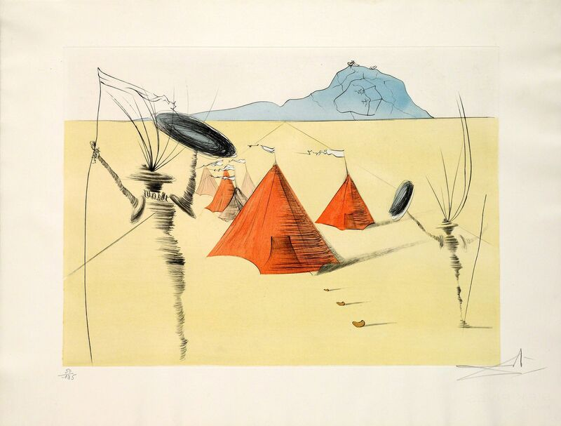 Salvador Dalí, 'Gad (Twelve Tribes of Israel)', 1973, Print, Hand-signed etching with color stencil, Martin Lawrence Galleries