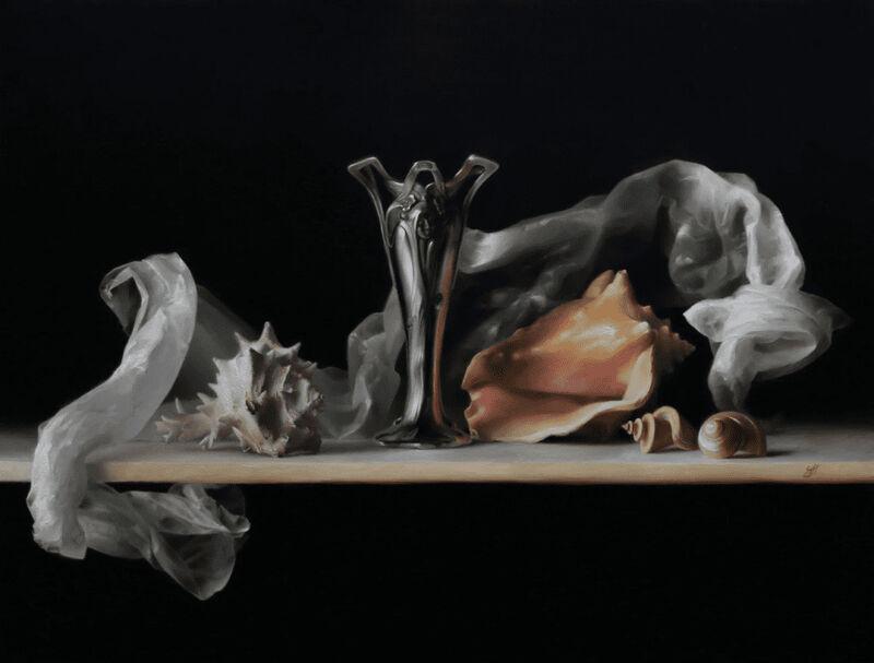 Sadie Valeri, 'Art Nouveau Embrace', 2019, Painting, Oil on canvas, Lily Pad West