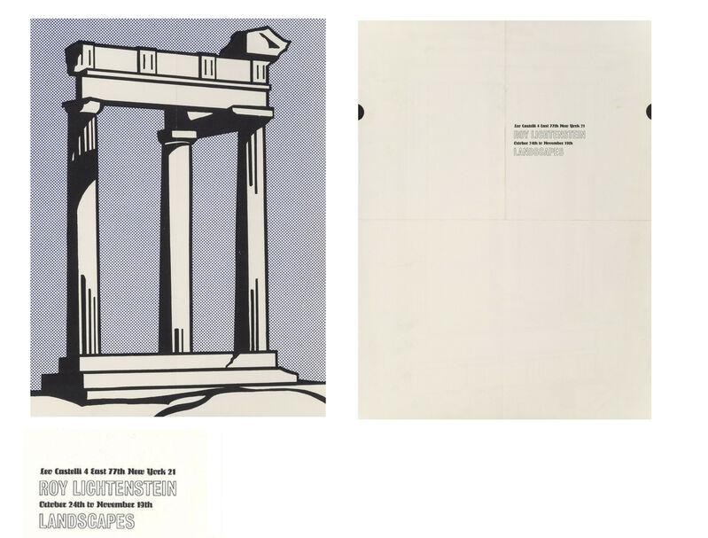 "Roy Lichtenstein, '""Landscapes"", 1964, Invitation/Mailer/Poster, Leo Castelli Gallery NYC', 1964, Print, Lithograph on paper, VINCE fine arts/ephemera"