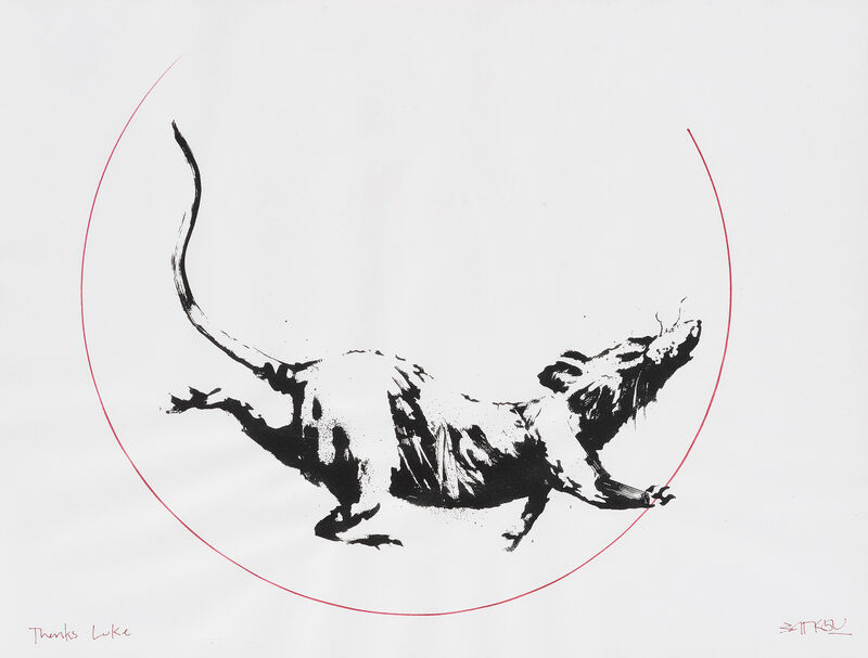 Banksy, 'GDP Rat Gift Print', 2019, Print, Hand-embellished screenprint on 50gsm paper, Tate Ward Auctions