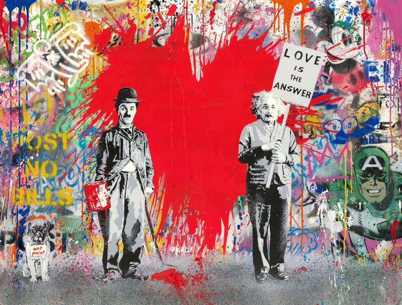Mr. Brainwash, 'Juxtapose', 2020, Mixed Media, Silkscreen and mixed media on paper, Taglialatella Galleries