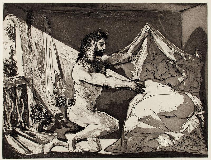 Pablo Picasso, 'FAUNE DÉVOILANT UNE FEMME (B. 230; Baer 609; S.V. 27)', 1934, Print, Aquatint, scraper and burin, on Montval laid paper, Marc Rosen Fine Art Ltd