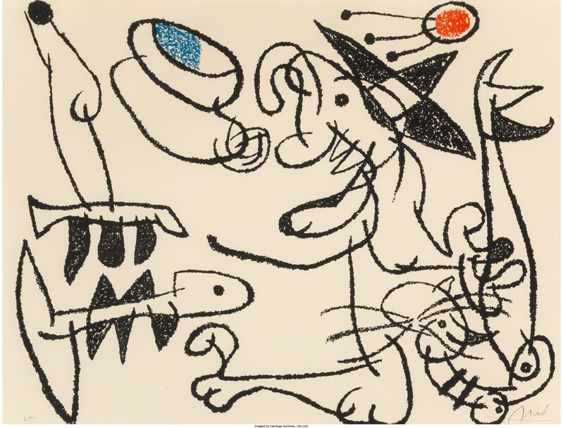 Joan Miró, 'Ubu aux baleares, pl. 29', 1971, Print, Lithograph in colors on Arches paper, Heritage Auctions