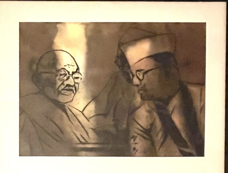Atul Dodiya, 'At The Haripura Congress', 2000, Drawing, Collage or other Work on Paper, Watercolor and charcoal on paper, Artsy x Rago/Wright