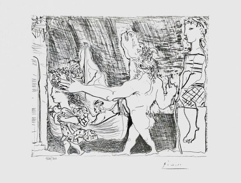 Pablo Picasso, 'Blind Minotaur Led by Girl w/Dove', 1990, Reproduction, Lithograph on wove paper, Art Commerce