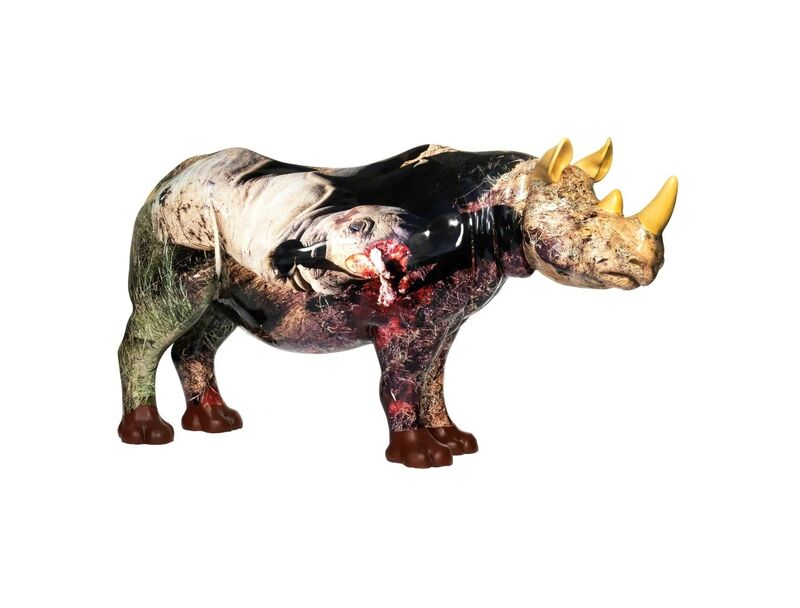 Jake & Dinos Chapman, 'The Unmentionable', 2018, Sculpture, Rhino: fibreglass rhino (fire retardant) with internal armature Finish: Paint and hand applied bespoke designed vinyl images, Tusk Benefit Auction