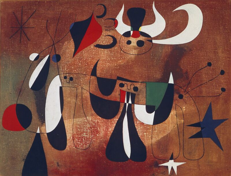 Joan Miró, 'Personages in the Night', 1950, Painting, Oil on canvas, Art Resource