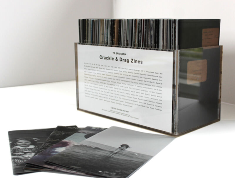 T.R. Ericsson, 'Crackle & Drag zines box set', Books and Portfolios, 150 zines with custom Plexiglas box, printed card listing each title. Digital offset. each 5 ¼ x 8 ¼ inches, with page count 8-100., Harlan Levey Projects