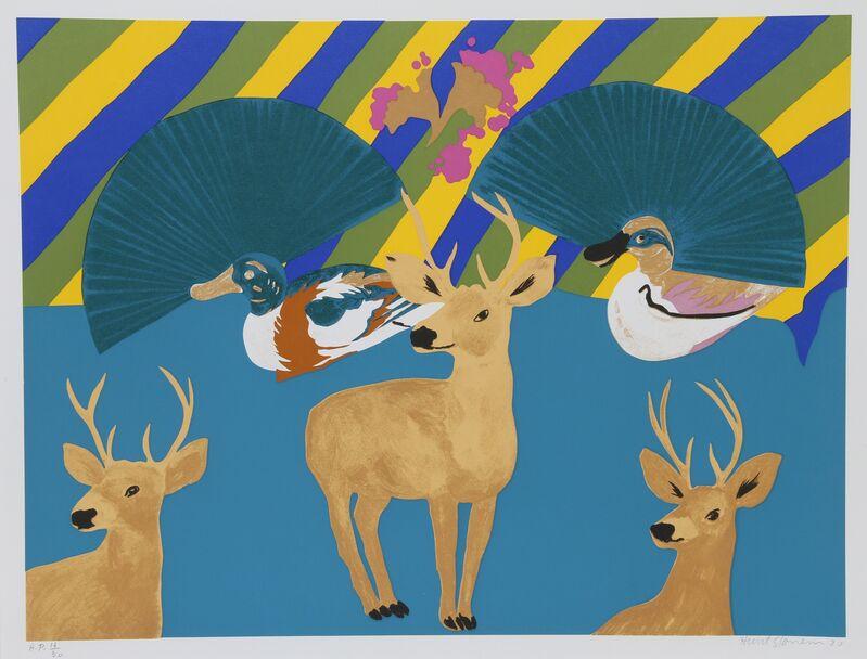 Hunt Slonem, 'Three Deer', 1980, Print, Serigraph, RoGallery