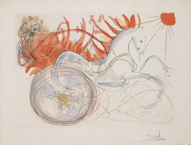 Salvador Dalí, 'Elijah (Elijah and the chariot) (Our Historical Heritage, Plate J)', 1975, Print, Hand-signed engraving, Martin Lawrence Galleries