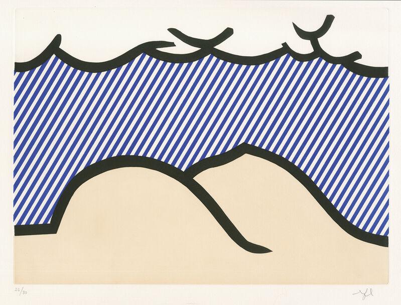 "Roy Lichtenstein, 'Illustration for ""De Denver au Montana, Départ 27 Mai 1972"" (I) from ""La Nouvelle Chute de l' Amerique"" (The New Fall of America) ', 1992, Print, Etching and aquatint in colours, Galerie Boisseree"