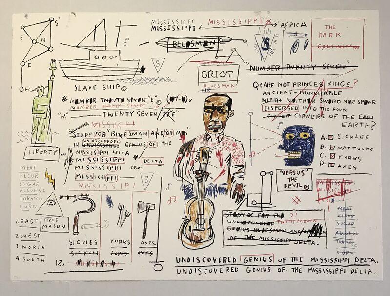 Jean-Michel Basquiat, 'Undiscovered Genius', 1982-2019, Print, Screenprint, Gregg Shienbaum Fine Art