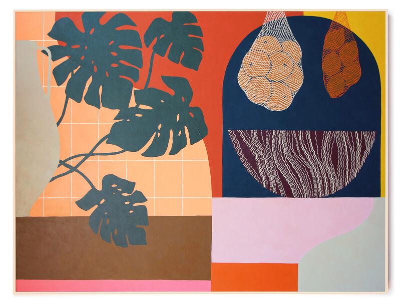 Carmen McNall, 'Sanctuary 18', 2021, Painting, Acrylic on hand carved wood panel., Uprise Art