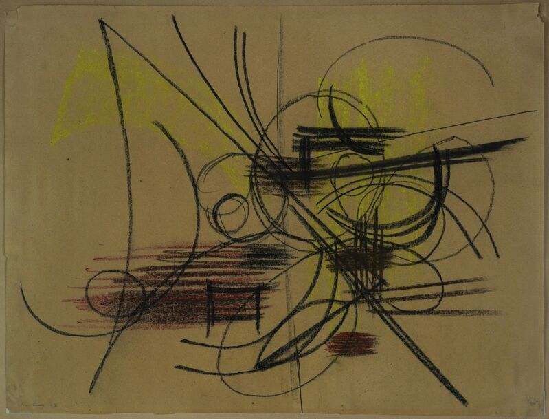 Hans Hartung, 'Abstract Composition', 1947, Drawing, Collage or other Work on Paper, Pastel on paper, Capsule Gallery Auction