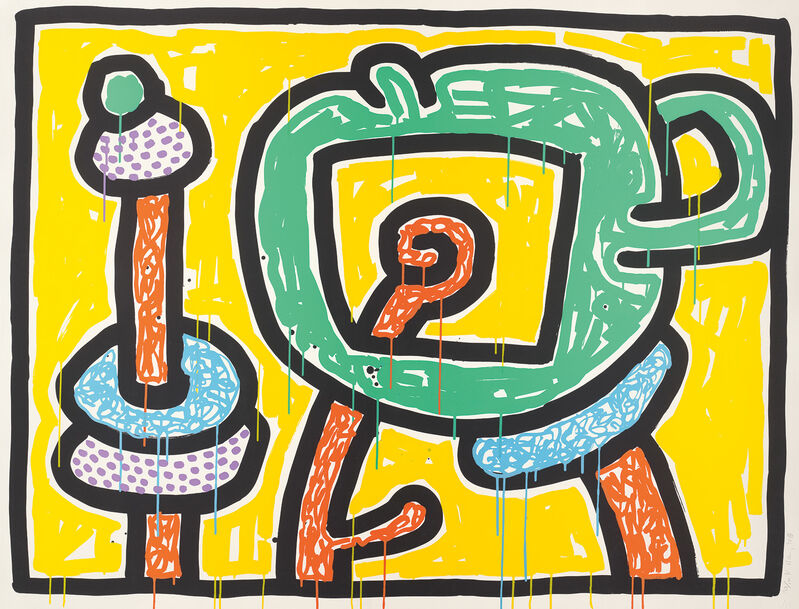Keith Haring, 'Flowers 3', 1990, Print, Screenprint in colours, on Coventry Rag paper, the full sheet., Phillips