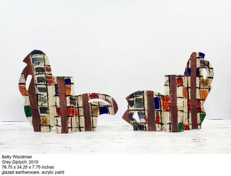 Betty Woodman, 'Grey Diptych', 2010, Sculpture, Glazed earthenware, Nina Johnson