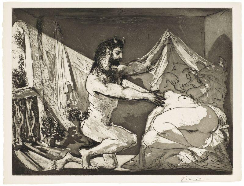 Pablo Picasso, 'Faune dévoilant une femme, from La Suite Vollard', 1936, Print, Aquatint, on Montval laid paper, Christie's