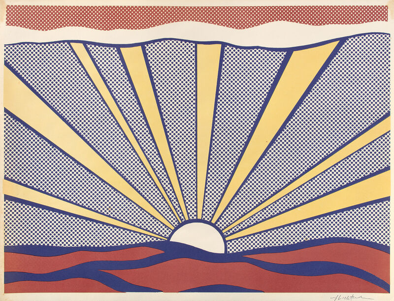 Roy Lichtenstein, 'Sunrise', 1965, Print, Offset lithograph in colors, on lightweight wove paper, with full margins., Phillips
