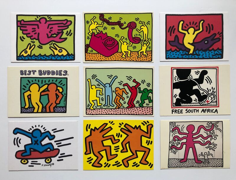 Keith Haring, '18 untitled postcards', 1983-88, Other, Lithographic post cards, Gallery 52