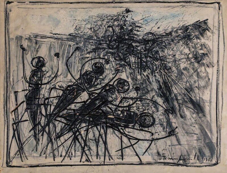 Cesare Peverelli, 'Formiche', 1989 ca., Painting, Oil on canvas, Finarte