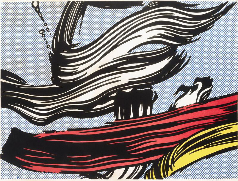 Roy Lichtenstein, 'Brushstrokes', 1967, Print, Screenprint in colours on wove paper, Tate Ward Auctions