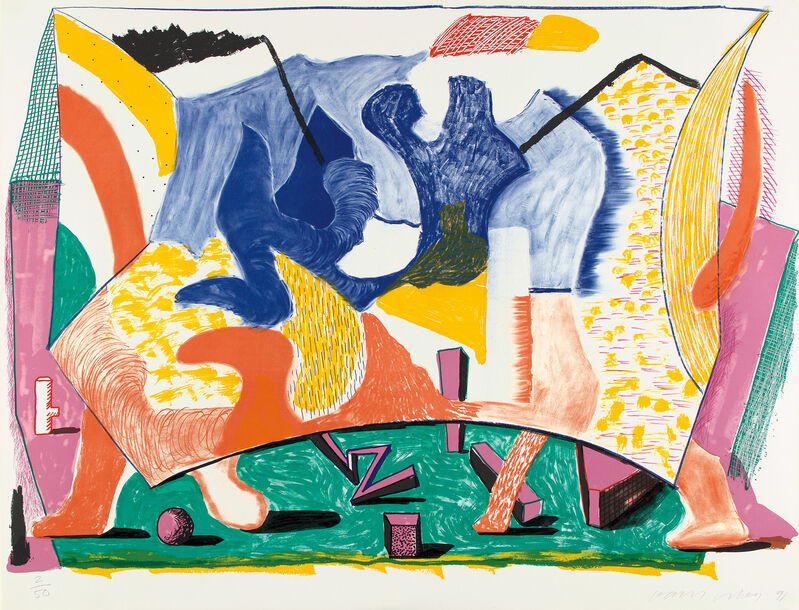 David Hockney, 'Twelve Fifteen', 1991, Print, Lithograph in colors, on Rives BFK paper, the full sheet., Phillips