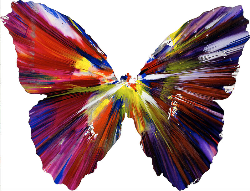Damien Hirst, 'Spin Painting - Butterfly', 2008, Painting, Acrylic on wove paper, Christopher-Clark Fine Art