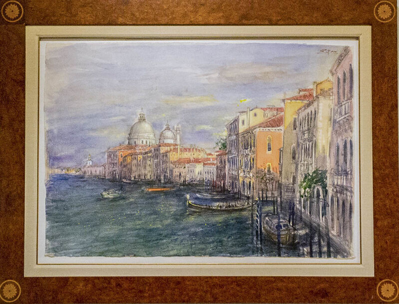 Bruno Zupan, 'Grand Canal, Venice', 2018, Drawing, Collage or other Work on Paper, Watercolor on Japanese rice paper, Galerie d'Orsay