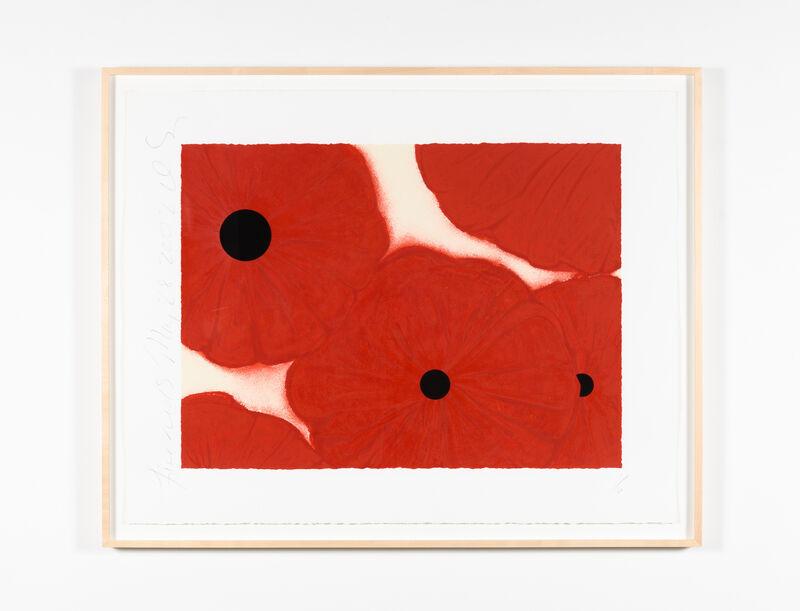 Donald Sultan, 'Five Reds', 2002, Print, Screenprint with flocking, Leslie Sacks Gallery