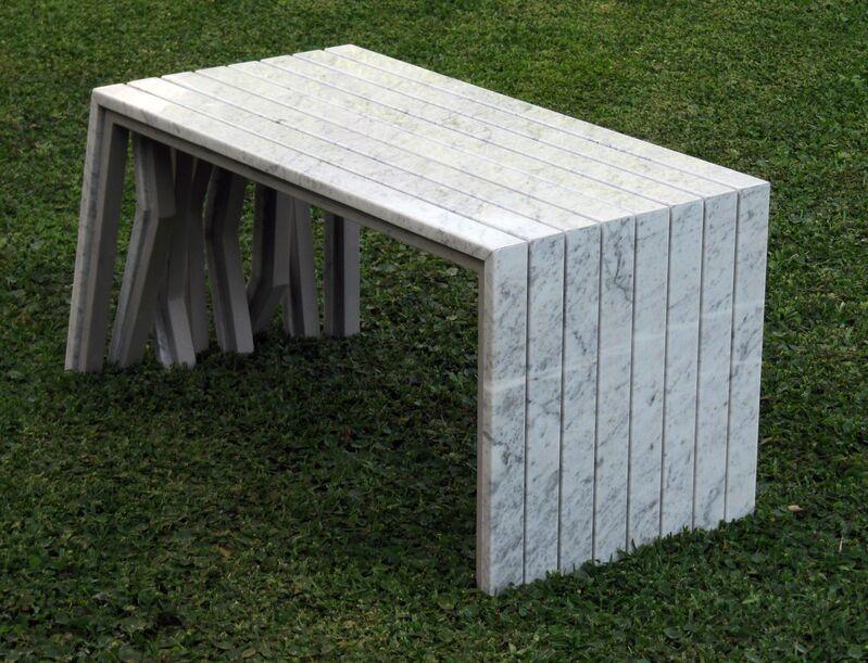 Pedro Barrail, 'Keep Walking Bench', 2012, Design/Decorative Art, Carrara Marble, Cristina Grajales Gallery