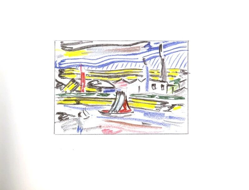 Roy Lichtenstein, 'Limited Edition Hardback Book of Landscape Sketches 1984-1985 ', 1986, Books and Portfolios, Hardback book with elegant mylar cover (Lt Ed) with reproductions, Alpha 137 Gallery