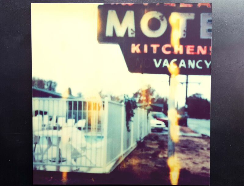 Stefanie Schneider, 'Village Motel, Raining (The Last Picture Show)', 2006, Photography, Analog C-Print based on a Polaroid, hand-printed by the artist on Fuji Crystal Archive Paper. Mounted on Aluminum with matte UV-Protection., Instantdreams