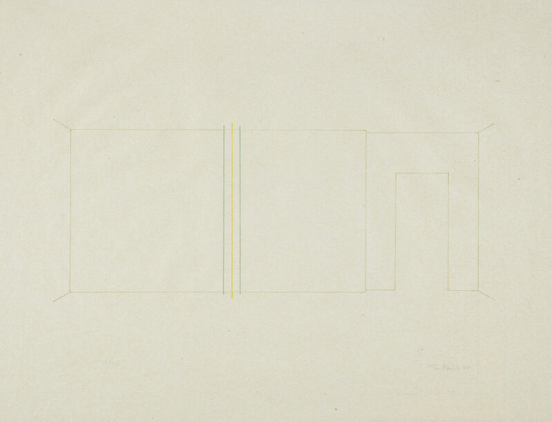 Fred Sandback, 'Lithograph (J. 110)', 1984, Print, Lithograph in colors, on Japanese paper, with full margins., Phillips