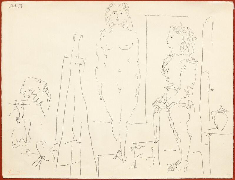 Pablo Picasso, 'Les deux modèles', 1954, Print, Lithograph, Koller Auctions