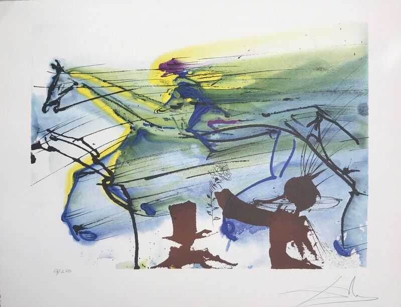Salvador Dalí, 'Race Horse', 1972, Drawing, Collage or other Work on Paper, Lithograph, Dali Paris
