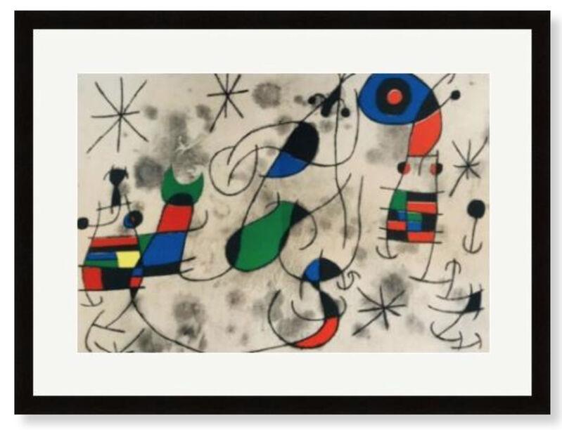 Joan Miró, 'L'Oiseau Solaire, L'Oiseau Lunaire,  Etincelles', 1967, Print, Velum paper, Modern-Originals