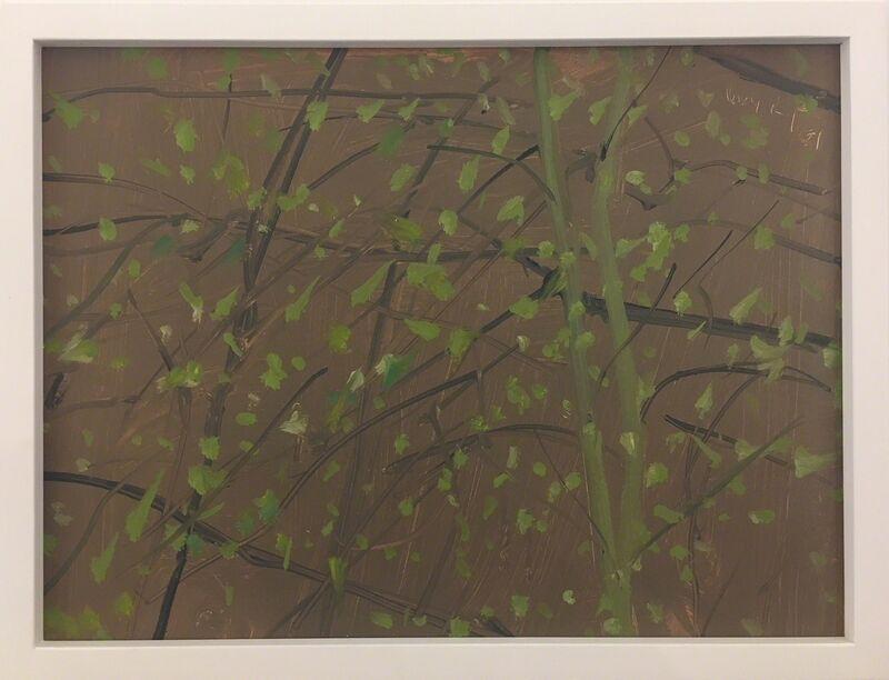 Alex Katz, 'Untitled (Oil)', 2001, Painting, Oil on masonite, Hamilton-Selway Fine Art Gallery Auction