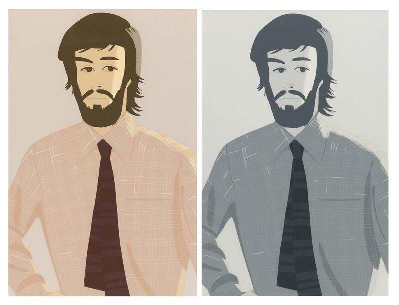 Alex Katz, 'Plaid shirt I and II', 1981, Print, Two colour silkscreens on vellum, Van Ham