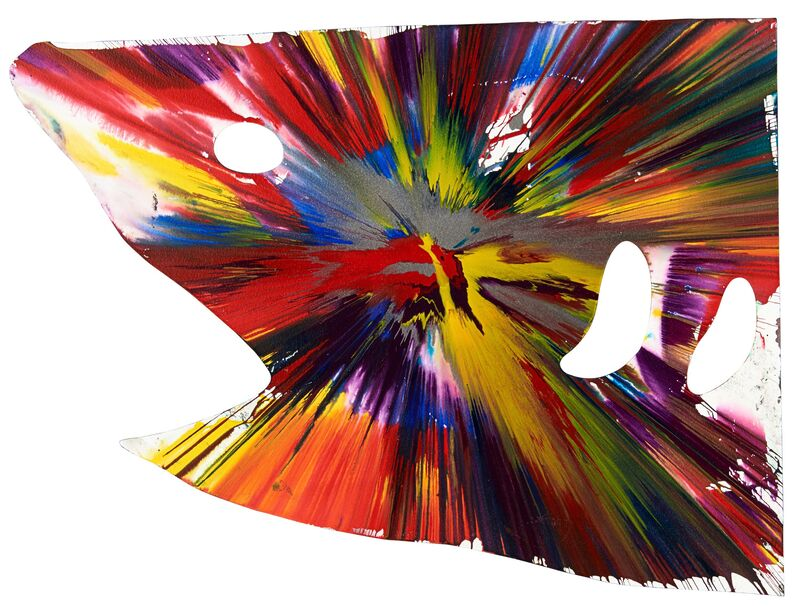 Damien Hirst, 'Shark Spin Painting (Created at Damien Hirst Spin Workshop)', 2009, Painting, Acrylic on paper, Rago/Wright