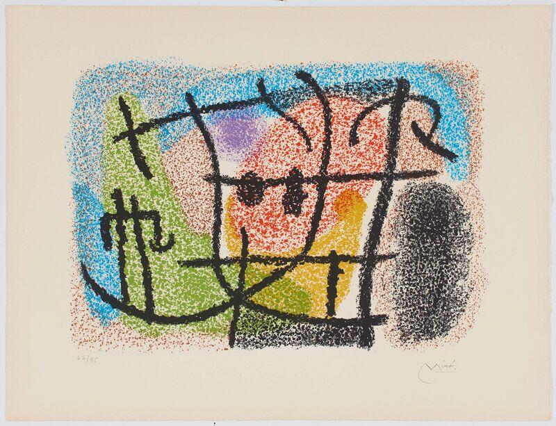 Joan Miró, 'Untitled', 1965, Print, Colour lithograph on Arches, Van Ham
