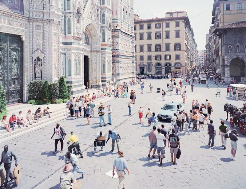 Massimo Vitali, 'Firenze via via', ca. 2002, Photography, Offset Lithograph on Consort Royal 300gm paper, Kenneth A. Friedman & Co.