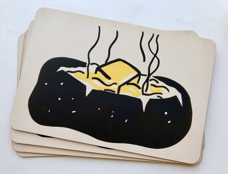 "Roy Lichtenstein, '""Baked Potato"" placemats', 1962/2013, Design/Decorative Art, Cork backed laminated board, Gallery 52"