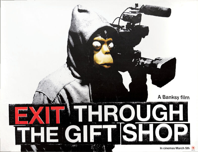 """Banksy, '""""EXIT THROUGH THE GIFT SHOP"""" POSTER', 2010, Ephemera or Merchandise, Offset Lithograph in colors, Arts Limited"""