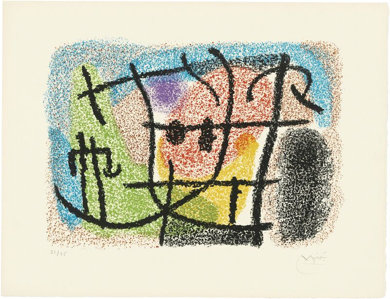 Joan Miró, 'Two plates, from: Cartones', 1965, Print, Lithographs in colours on Arches wove paper, Christie's