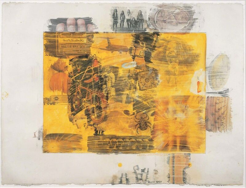 Robert Rauschenberg, 'Yellow Body', 1968, Drawing, Collage or other Work on Paper, Solvent transfer on paper with graphite, watercolor, gouache, and wash, Robert Rauschenberg Foundation