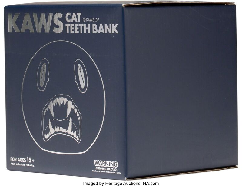 KAWS, 'Cat Teeth Bank (Navy)', 2007, Sculpture, Painted cast vinyl, Heritage Auctions