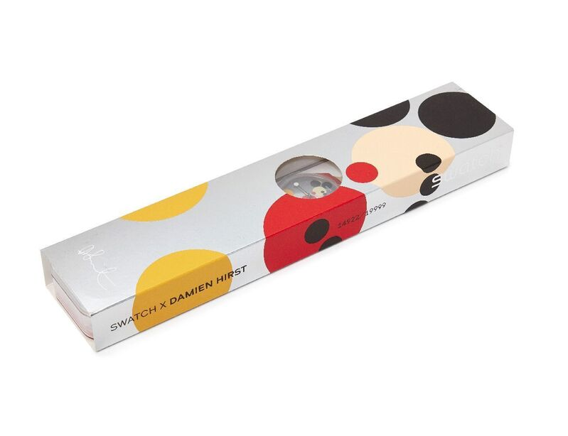 Damien Hirst, 'Swatch Spot Mickey [GZ3233] and Mirror Spot Mickey [SUOZ290S]', 2018, Fashion Design and Wearable Art, Two unisex Swatch watches in plastic, Roseberys