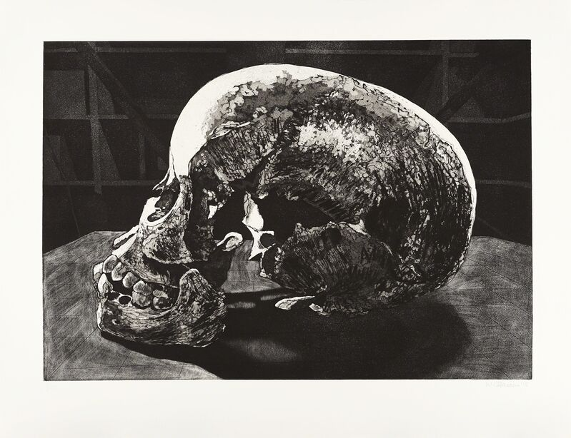 Walter Oltmann, 'Ex Situ (Child Skull)', 2015, Print, Aquatint etching, Goodman Gallery