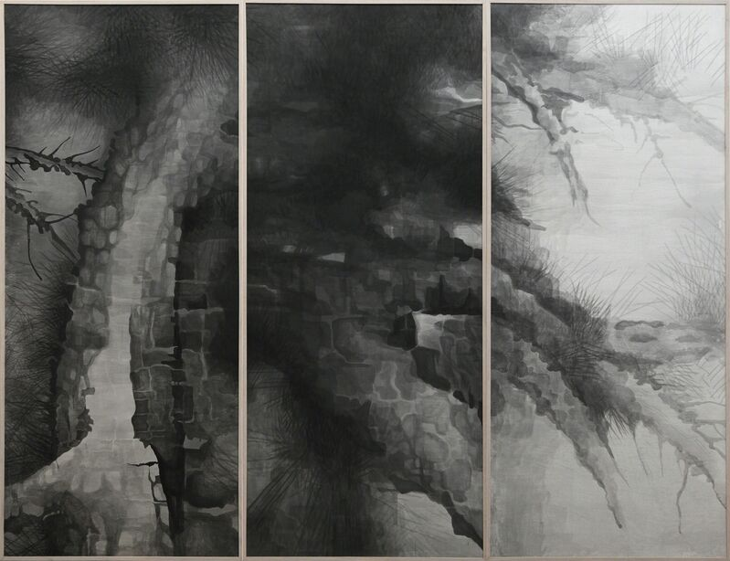 Shao Fan, 'The Pine Asks', 2009-2014, Drawing, Collage or other Work on Paper, Ink on rice paper, Galerie Urs Meile
