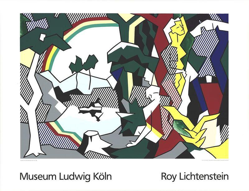 Roy Lichtenstein, 'Landscape With Figures and Rainbow Lg', 1989, Ephemera or Merchandise, Silkscreen, ArtWise
